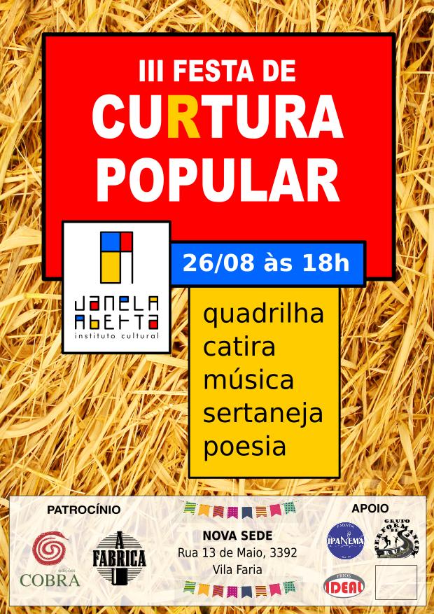iii festa de cultura popular instituto cultural janela aberta
