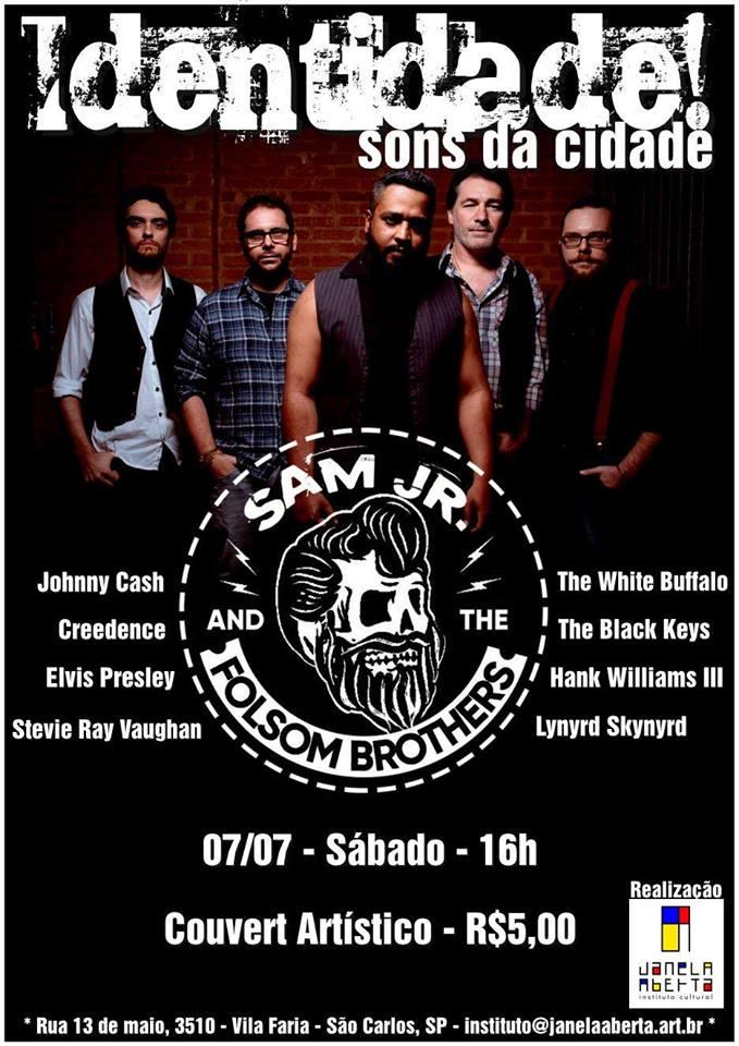 cartaz evento identidade banda sam jr janela aberta